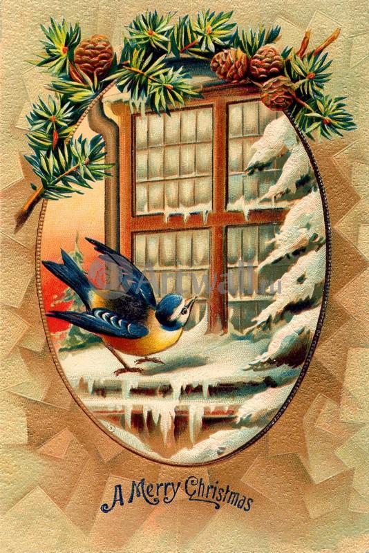 Постер 12.31 Новый Год - ретро открытки