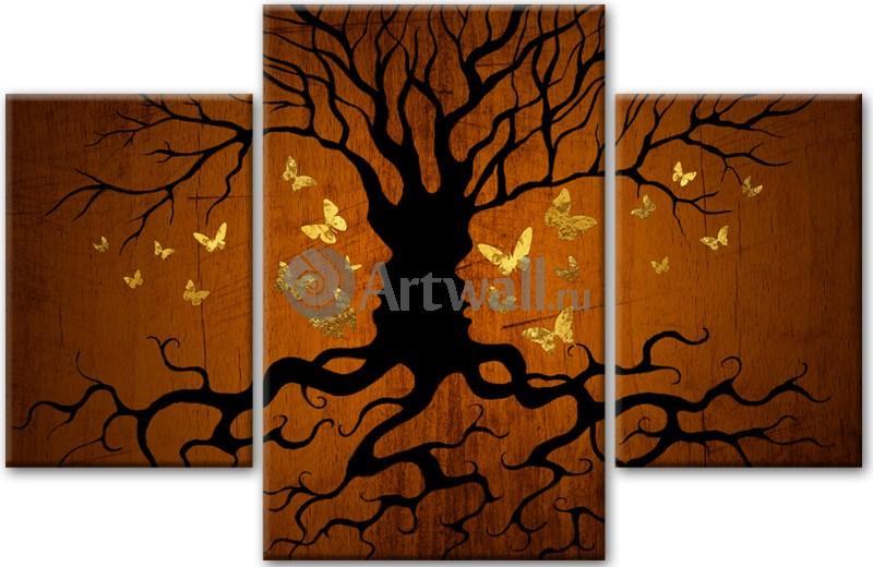 Модульная картина «Дерево, женщина, мужчина»Люди<br>Модульная картина на натуральном холсте и деревянном подрамнике. Подвес в комплекте. Трехслойная надежная упаковка. Доставим в любую точку России. Вам осталось только повесить картину на стену!<br>