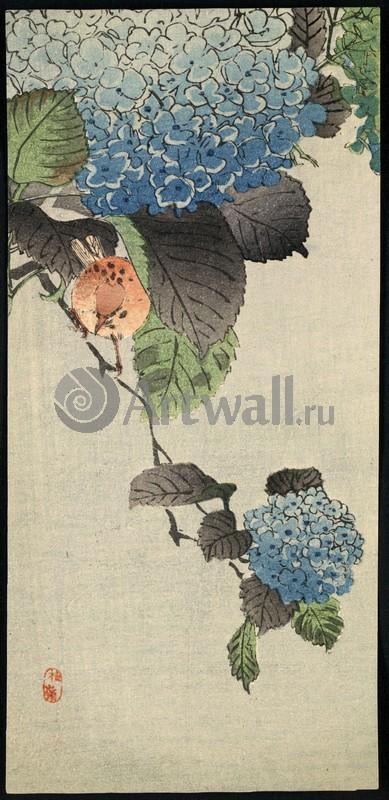 Японская гравюра Растения, птицы и животные, Гравюра 36242Растения, птицы и животные<br>Репродукция на холсте или бумаге. Любого нужного вам размера. В раме или без. Подвес в комплекте. Трехслойная надежная упаковка. Доставим в любую точку России. Вам осталось только повесить картину на стену!<br>