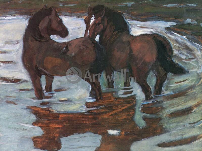 Марк Франц, картина Две лошади на водопоеМарк Франц<br>Репродукция на холсте или бумаге. Любого нужного вам размера. В раме или без. Подвес в комплекте. Трехслойная надежная упаковка. Доставим в любую точку России. Вам осталось только повесить картину на стену!<br>