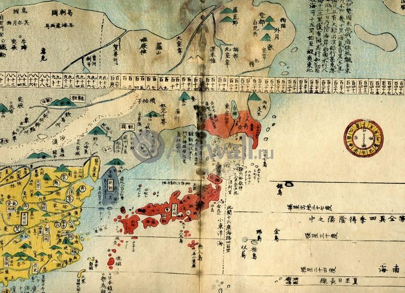 Постер Старинные карты Карта ЯпонииСтаринные карты<br>Постер на холсте или бумаге. Любого нужного вам размера. В раме или без. Подвес в комплекте. Трехслойная надежная упаковка. Доставим в любую точку России. Вам осталось только повесить картину на стену!<br>