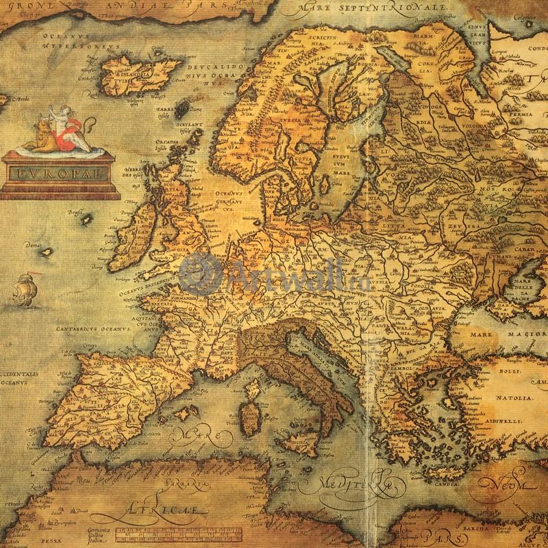 Старинные карты, картина Ортелиус Абрахам, ЕвропаСтаринные карты<br>Репродукция на холсте или бумаге. Любого нужного вам размера. В раме или без. Подвес в комплекте. Трехслойная надежная упаковка. Доставим в любую точку России. Вам осталось только повесить картину на стену!<br>