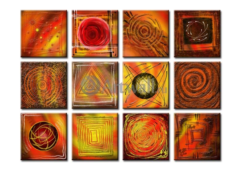 Модульная картина «12 композиций»Абстракция<br>Модульная картина на натуральном холсте и деревянном подрамнике. Подвес в комплекте. Трехслойная надежная упаковка. Доставим в любую точку России. Вам осталось только повесить картину на стену!<br>