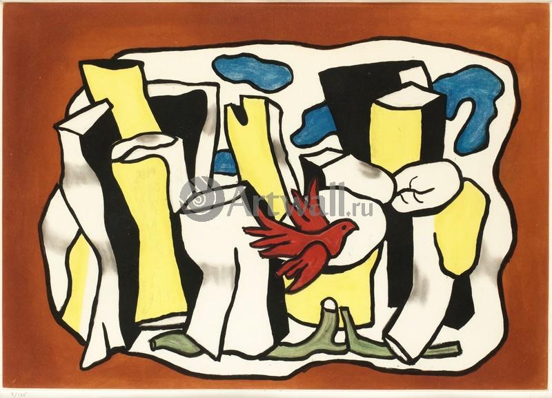 Леже Фернан, картина Красная птицаЛеже Фернан<br>Репродукция на холсте или бумаге. Любого нужного вам размера. В раме или без. Подвес в комплекте. Трехслойная надежная упаковка. Доставим в любую точку России. Вам осталось только повесить картину на стену!<br>