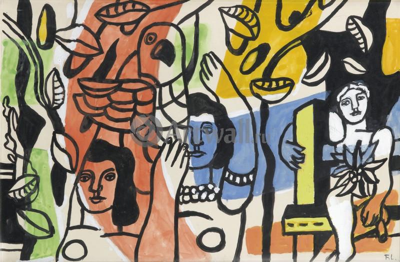 Леже Фернан, картина Три женщины с попугаемЛеже Фернан<br>Репродукция на холсте или бумаге. Любого нужного вам размера. В раме или без. Подвес в комплекте. Трехслойная надежная упаковка. Доставим в любую точку России. Вам осталось только повесить картину на стену!<br>