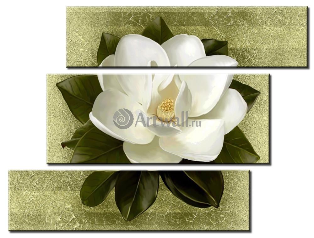 Модульная картина «Белая орхидея на зеленом»Цветы<br>Модульная картина на натуральном холсте и деревянном подрамнике. Подвес в комплекте. Трехслойная надежная упаковка. Доставим в любую точку России. Вам осталось только повесить картину на стену!<br>