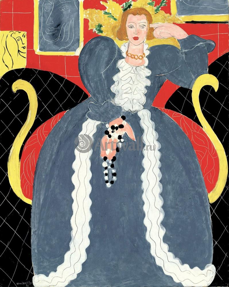 Матисс Анри, картина Большое голубое платьеМатисс Анри<br>Репродукция на холсте или бумаге. Любого нужного вам размера. В раме или без. Подвес в комплекте. Трехслойная надежная упаковка. Доставим в любую точку России. Вам осталось только повесить картину на стену!<br>