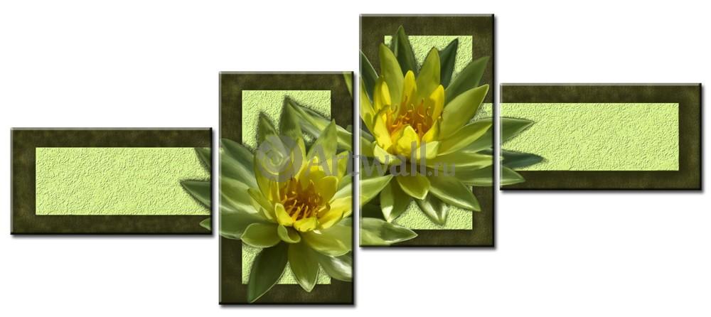 Модульная картина «Лимонные магнолии»Цветы<br>Модульная картина на натуральном холсте и деревянном подрамнике. Подвес в комплекте. Трехслойная надежная упаковка. Доставим в любую точку России. Вам осталось только повесить картину на стену!<br>
