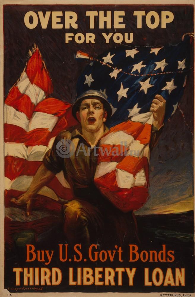 Плакат Плакат 20 века Купить Американские облигации, третий займ, 20x30 см, на бумагеВойна<br>Постер на холсте или бумаге. Любого нужного вам размера. В раме или без. Подвес в комплекте. Трехслойная надежная упаковка. Доставим в любую точку России. Вам осталось только повесить картину на стену!<br>