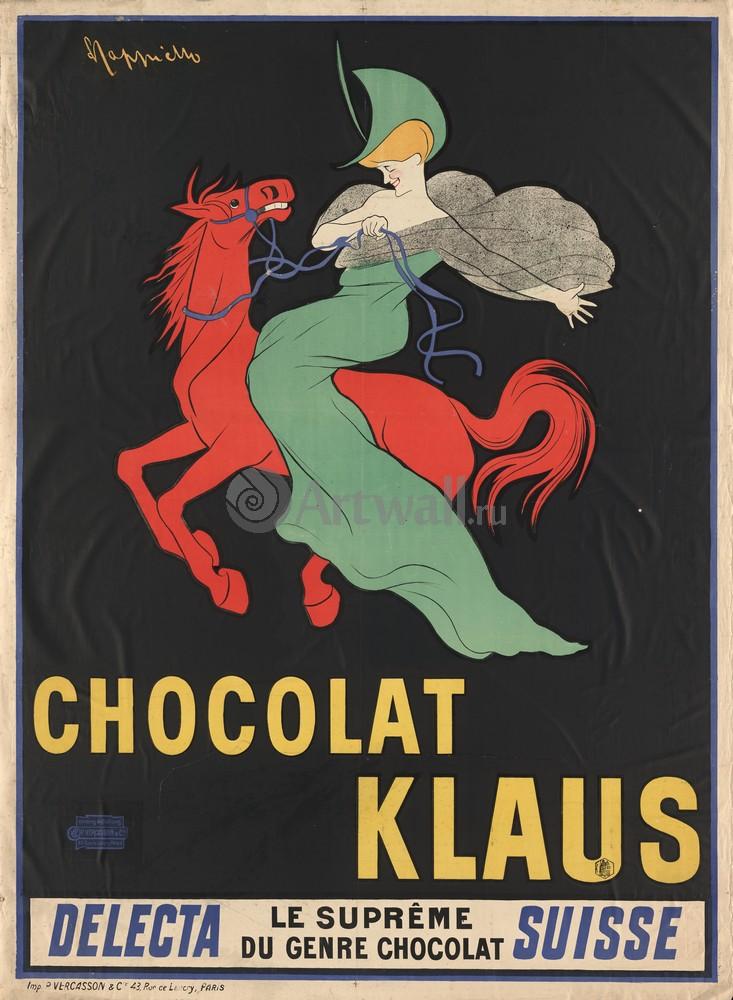 Плакат Плакат 20 века Chocolat Klaus, 20x27 см, на бумагеЕда<br>Постер на холсте или бумаге. Любого нужного вам размера. В раме или без. Подвес в комплекте. Трехслойная надежная упаковка. Доставим в любую точку России. Вам осталось только повесить картину на стену!<br>