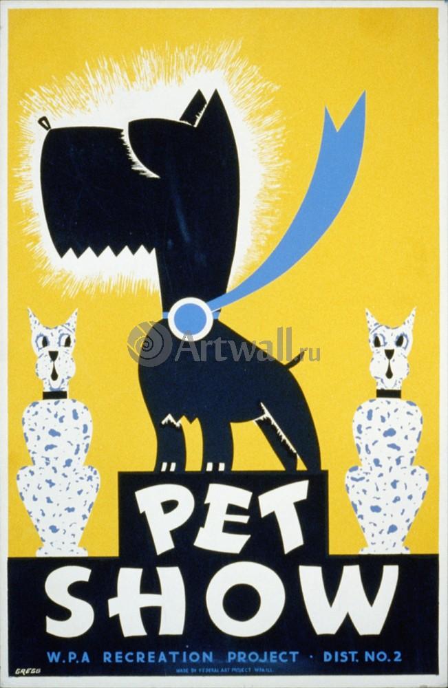 Плакат Плакат 20 века Шоу домашних животных, 20x31 см, на бумагеЖивотные<br>Постер на холсте или бумаге. Любого нужного вам размера. В раме или без. Подвес в комплекте. Трехслойная надежная упаковка. Доставим в любую точку России. Вам осталось только повесить картину на стену!<br>