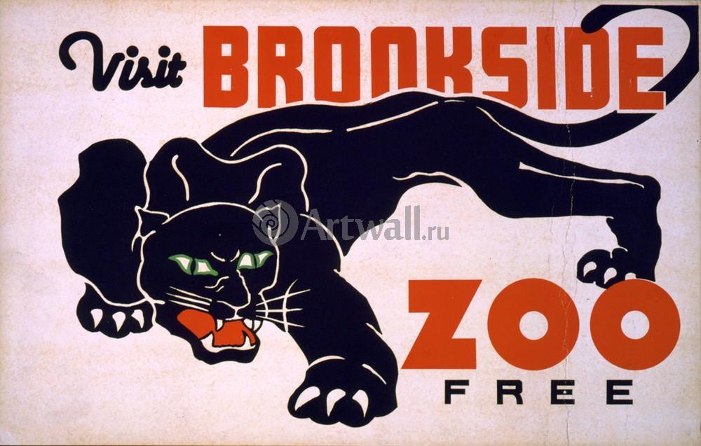 Плакат Искусство Посетите Brookside Zoo Free, 31x20 см, на бумагеИскусство<br>Постер на холсте или бумаге. Любого нужного вам размера. В раме или без. Подвес в комплекте. Трехслойная надежная упаковка. Доставим в любую точку России. Вам осталось только повесить картину на стену!<br>