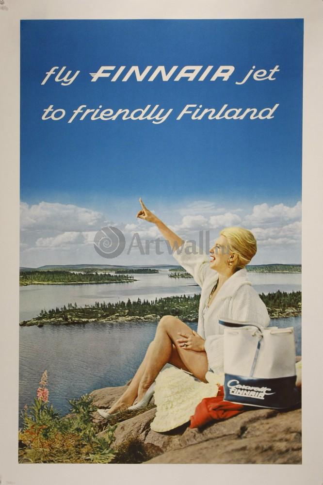 Fly Finnair Jet to Friendly Finland, 20x30 см, на бумагеНациональный парк<br>Постер на холсте или бумаге. Любого нужного вам размера. В раме или без. Подвес в комплекте. Трехслойная надежная упаковка. Доставим в любую точку России. Вам осталось только повесить картину на стену!<br>