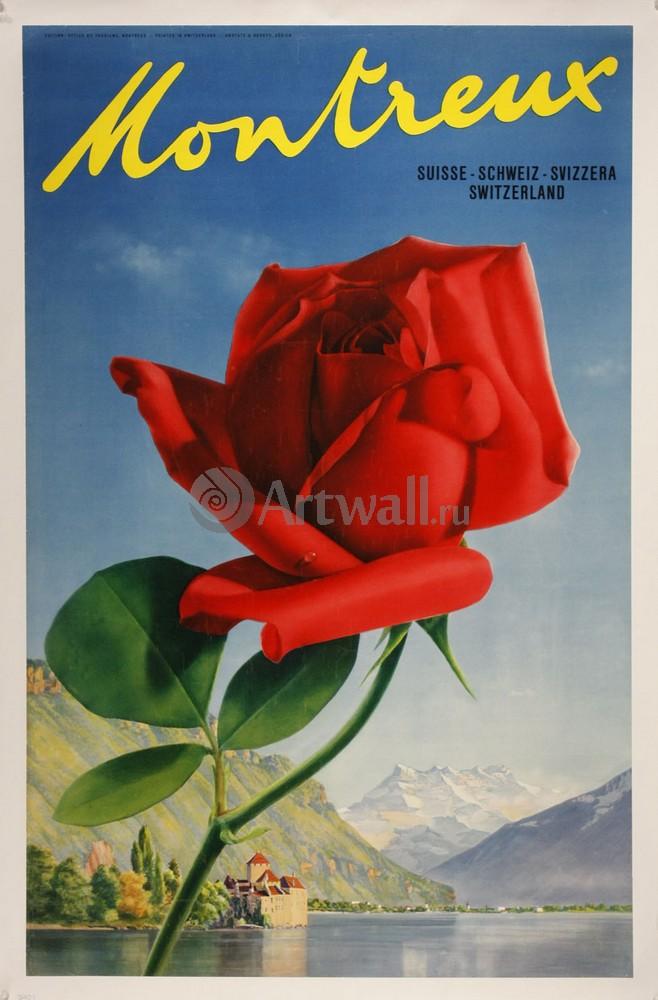 Плакат Плакат 20 века Montreux, Suisse - Schwez - Svizzera, Switzerland, 20x30 см, на бумагеНациональный парк<br>Постер на холсте или бумаге. Любого нужного вам размера. В раме или без. Подвес в комплекте. Трехслойная надежная упаковка. Доставим в любую точку России. Вам осталось только повесить картину на стену!<br>