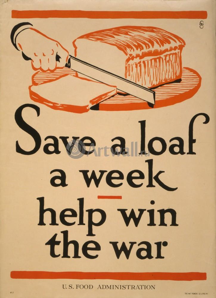 Сохраните буханку неделю, помогите выиграть войну, 20x28 см, на бумагеПропаганда<br>Постер на холсте или бумаге. Любого нужного вам размера. В раме или без. Подвес в комплекте. Трехслойная надежная упаковка. Доставим в любую точку России. Вам осталось только повесить картину на стену!<br>