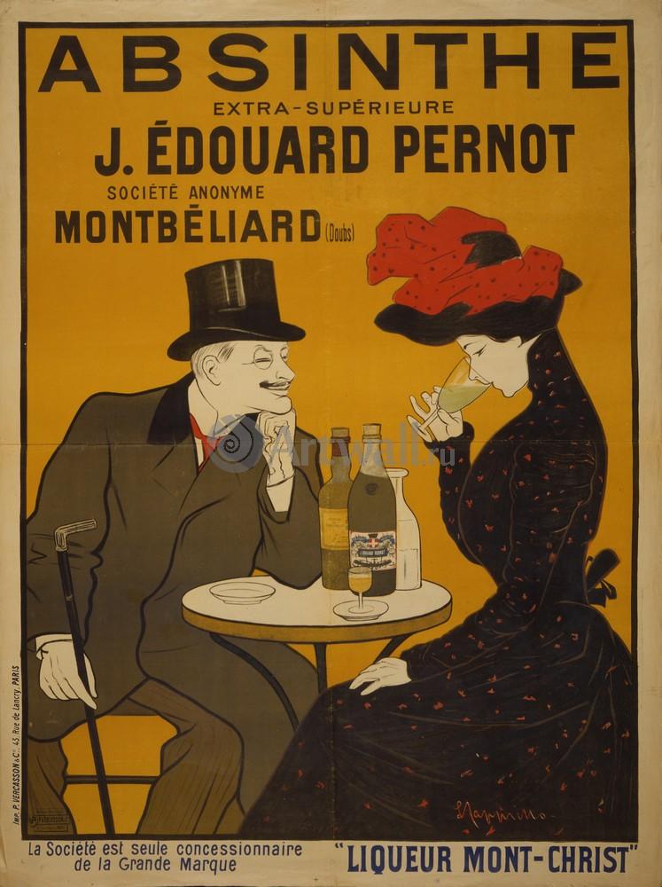 Плакат Реклама Absinthe, J. Edouard Pernot, Liqueur Mont-Christ, 20x27 см, на бумагеРеклама<br>Постер на холсте или бумаге. Любого нужного вам размера. В раме или без. Подвес в комплекте. Трехслойная надежная упаковка. Доставим в любую точку России. Вам осталось только повесить картину на стену!<br>