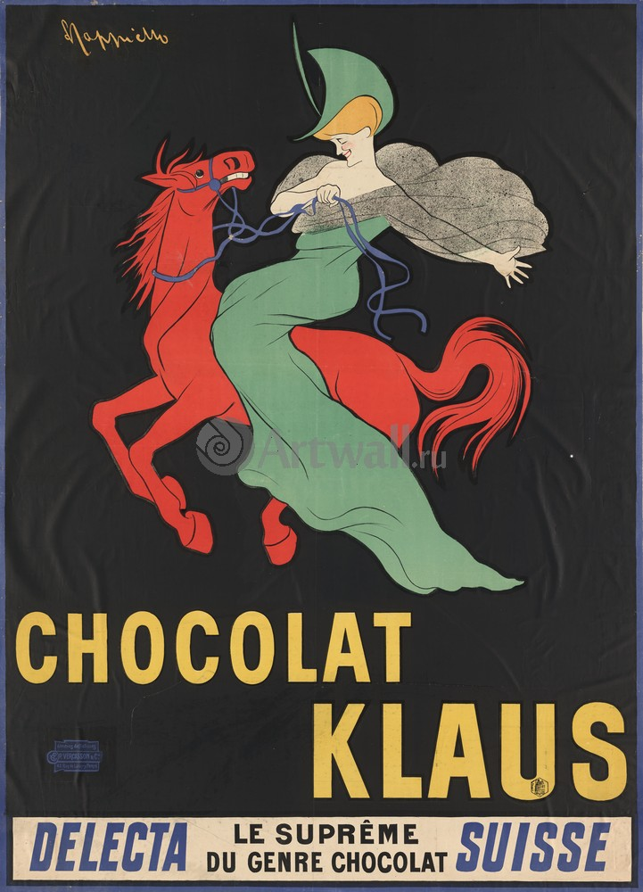 Плакат Плакат 20 века Chocolat Klaus, 20x28 см, на бумагеРеклама<br>Постер на холсте или бумаге. Любого нужного вам размера. В раме или без. Подвес в комплекте. Трехслойная надежная упаковка. Доставим в любую точку России. Вам осталось только повесить картину на стену!<br>