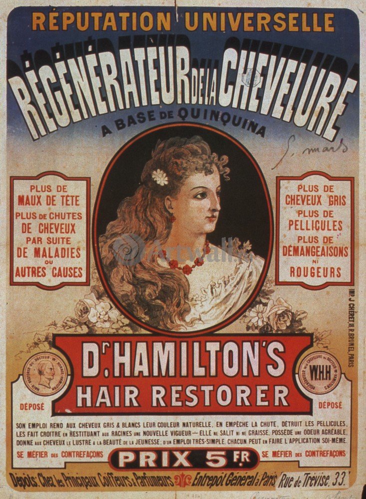 Плакат Плакат 20 века Dr. Hamiltons Hair Restorer, 20x27 см, на бумагеРеклама<br>Постер на холсте или бумаге. Любого нужного вам размера. В раме или без. Подвес в комплекте. Трехслойная надежная упаковка. Доставим в любую точку России. Вам осталось только повесить картину на стену!<br>