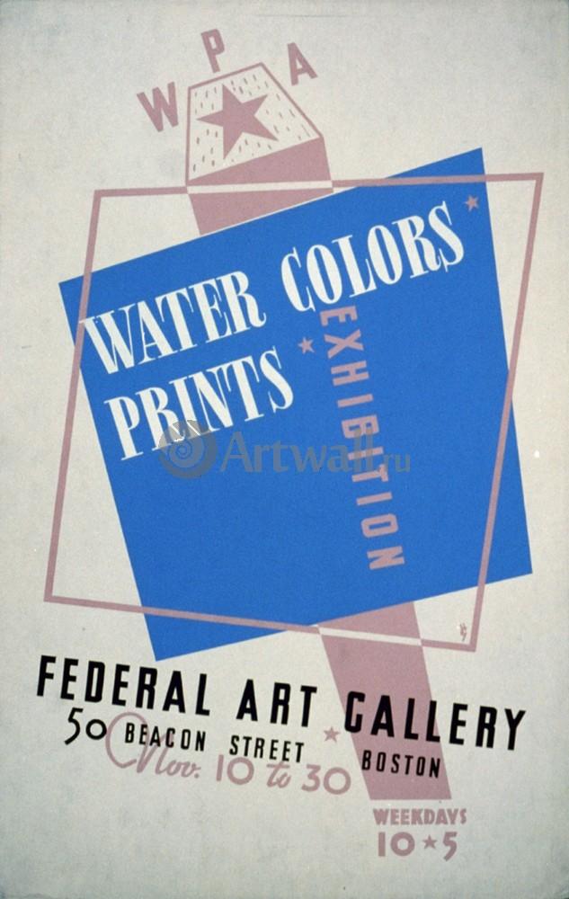 Плакат Реклама Water Colors Prints Vintage Poster, 20x32 см, на бумагеРеклама<br>Постер на холсте или бумаге. Любого нужного вам размера. В раме или без. Подвес в комплекте. Трехслойная надежная упаковка. Доставим в любую точку России. Вам осталось только повесить картину на стену!<br>