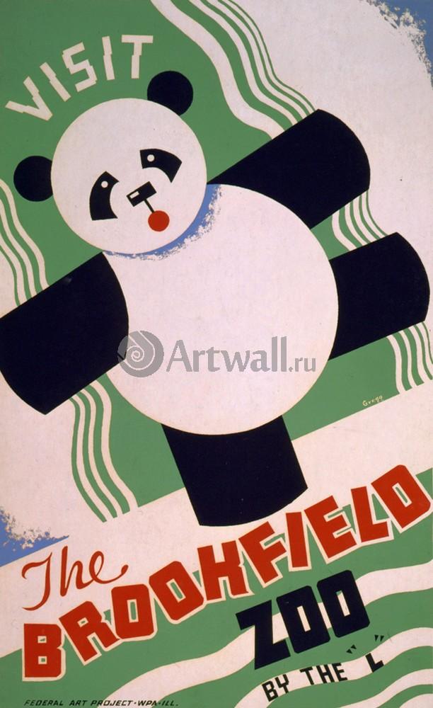Плакат Плакат 20 века Посетите Brookfield Zoo, на L, 20x33 см, на бумагеРеклама<br>Постер на холсте или бумаге. Любого нужного вам размера. В раме или без. Подвес в комплекте. Трехслойная надежная упаковка. Доставим в любую точку России. Вам осталось только повесить картину на стену!<br>