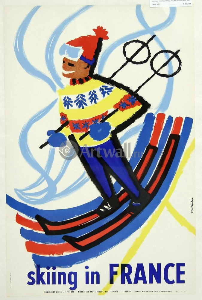 Плакат Плакат 20 века Катание на лыжах во Франции, 20x30 см, на бумагеСпорт<br>Постер на холсте или бумаге. Любого нужного вам размера. В раме или без. Подвес в комплекте. Трехслойная надежная упаковка. Доставим в любую точку России. Вам осталось только повесить картину на стену!<br>