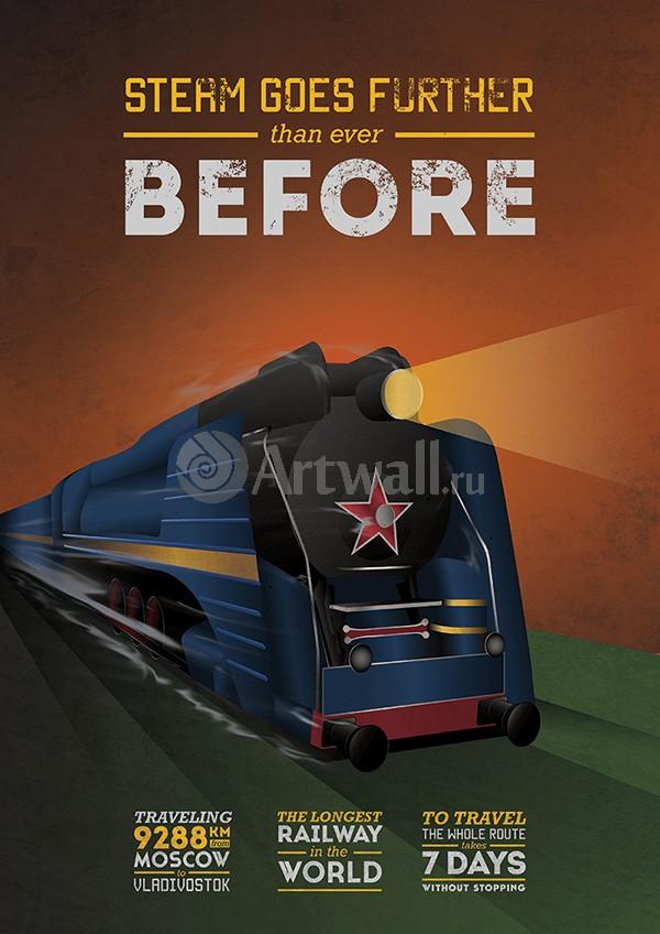Плакат Плакат 20 века Train Posters Celebrate 100th anniversary of Bradshaws Continental Railway Guide 3, 20x28 см, на бумагеТуризм<br>Постер на холсте или бумаге. Любого нужного вам размера. В раме или без. Подвес в комплекте. Трехслойная надежная упаковка. Доставим в любую точку России. Вам осталось только повесить картину на стену!<br>