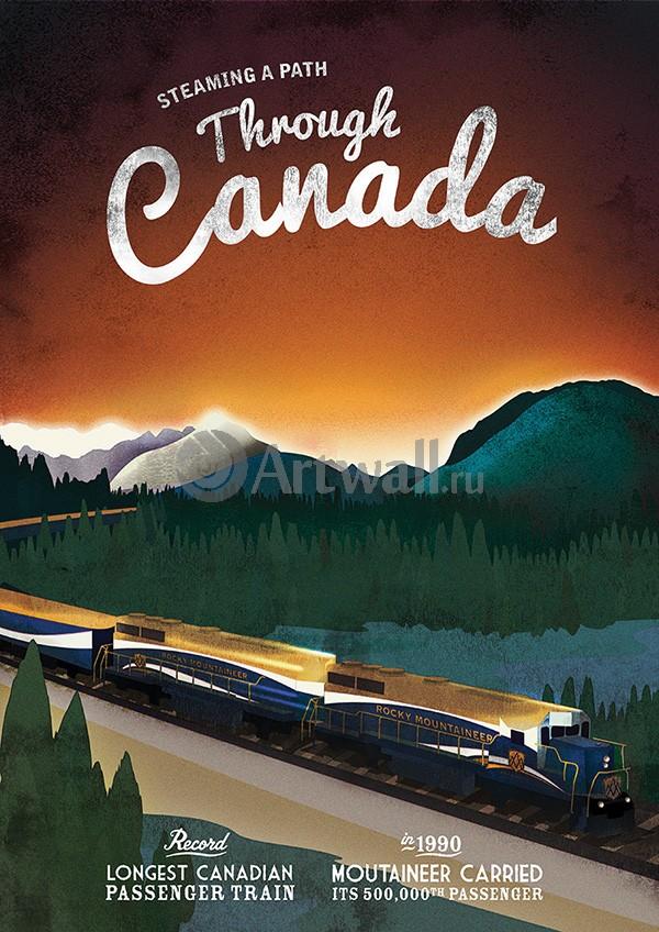 Плакат Плакат 20 века Train Posters Celebrate 100th anniversary of Bradshaws Continental Railway Guide 4, 20x28 см, на бумагеТуризм<br>Постер на холсте или бумаге. Любого нужного вам размера. В раме или без. Подвес в комплекте. Трехслойная надежная упаковка. Доставим в любую точку России. Вам осталось только повесить картину на стену!<br>