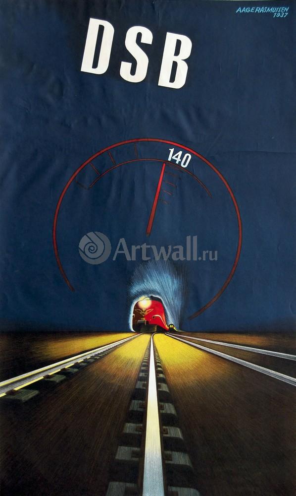 Плакат Плакат 20 века DSB Датский Железнодорожный скоростной поезд, 20x33 см, на бумагеТуризм<br>Постер на холсте или бумаге. Любого нужного вам размера. В раме или без. Подвес в комплекте. Трехслойная надежная упаковка. Доставим в любую точку России. Вам осталось только повесить картину на стену!<br>