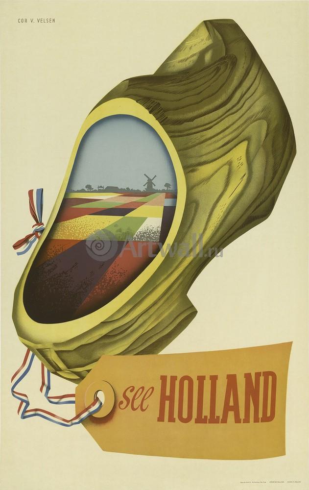 Плакат Плакат 20 века See Holland, 20x32 см, на бумагеТуризм<br>Постер на холсте или бумаге. Любого нужного вам размера. В раме или без. Подвес в комплекте. Трехслойная надежная упаковка. Доставим в любую точку России. Вам осталось только повесить картину на стену!<br>