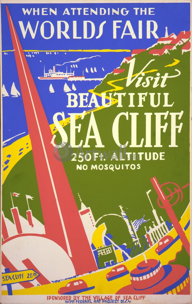 Плакат Плакат 20 века When Attending The Worlds Fair, Visit Beautiful Sea Cliff, 20x32 см, на бумагеТуризм<br>Постер на холсте или бумаге. Любого нужного вам размера. В раме или без. Подвес в комплекте. Трехслойная надежная упаковка. Доставим в любую точку России. Вам осталось только повесить картину на стену!<br>