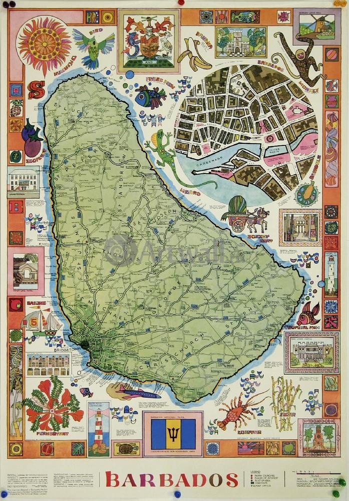 Плакат Плакат 20 века Барбадос, Карибские острова, Малые Антильские острова, 20x29 см, на бумагеТуризм<br>Постер на холсте или бумаге. Любого нужного вам размера. В раме или без. Подвес в комплекте. Трехслойная надежная упаковка. Доставим в любую точку России. Вам осталось только повесить картину на стену!<br>