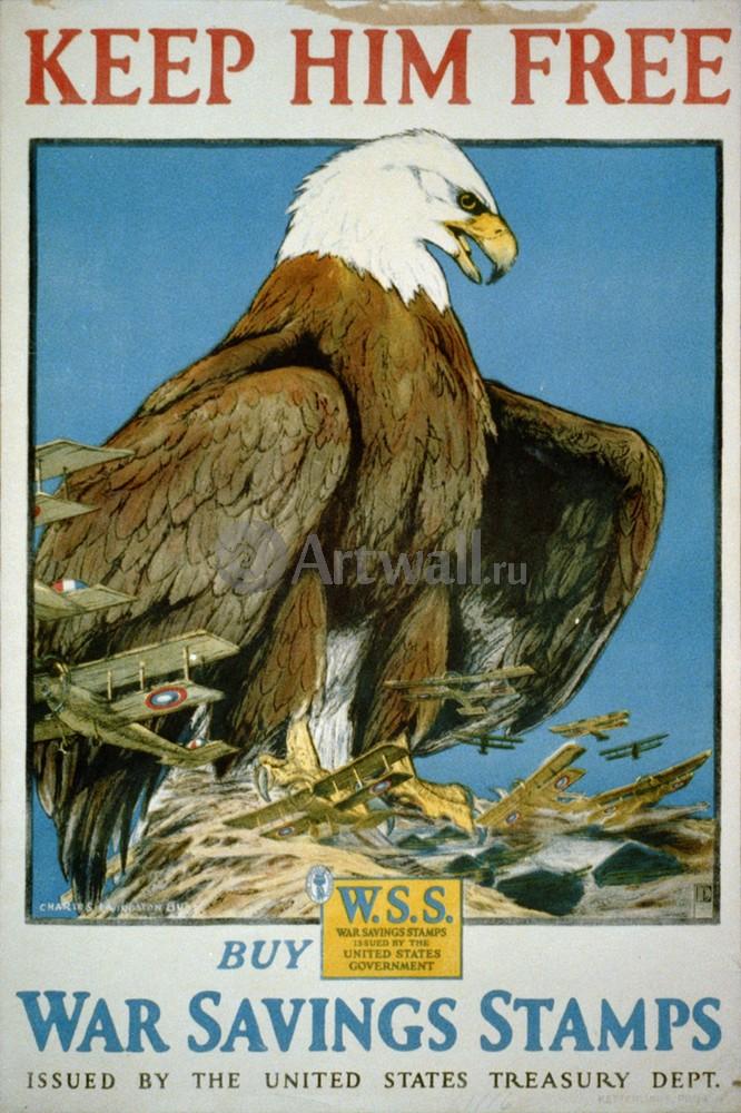 Плакат Плакат 20 века Держите его на свободе, American Eagle, 20x30 см, на бумагеТуризм<br>Постер на холсте или бумаге. Любого нужного вам размера. В раме или без. Подвес в комплекте. Трехслойная надежная упаковка. Доставим в любую точку России. Вам осталось только повесить картину на стену!<br>