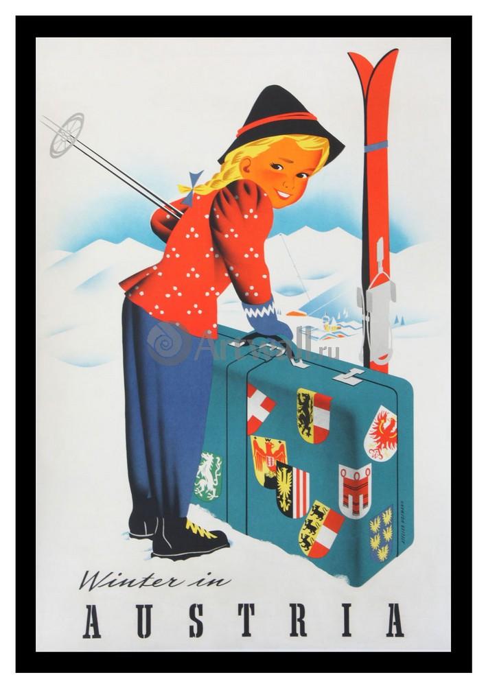 Плакат Плакат 20 века Зима в Австрии, 20x28 см, на бумагеТуризм<br>Постер на холсте или бумаге. Любого нужного вам размера. В раме или без. Подвес в комплекте. Трехслойная надежная упаковка. Доставим в любую точку России. Вам осталось только повесить картину на стену!<br>