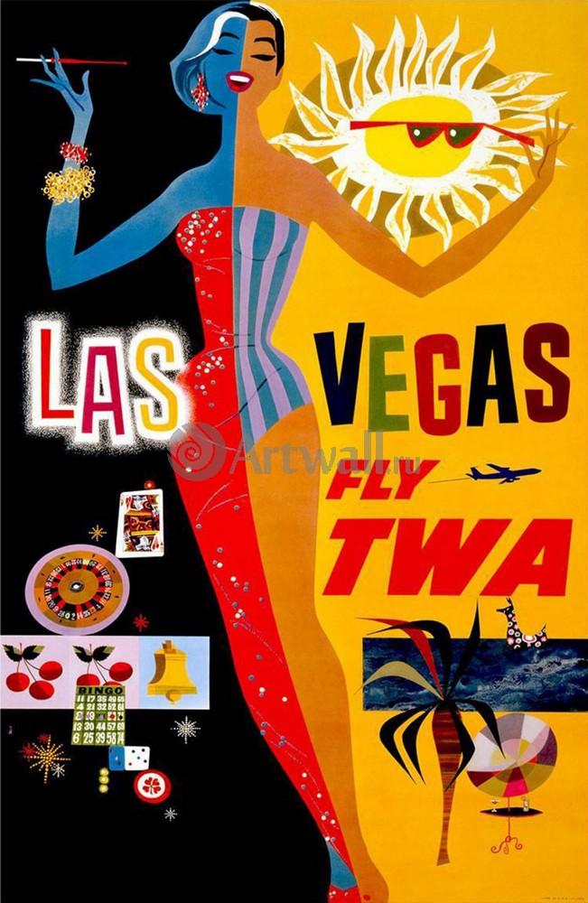 Плакат Туризм Лас-Вегас Fly TWA, 20x31 см, на бумагеТуризм<br>Постер на холсте или бумаге. Любого нужного вам размера. В раме или без. Подвес в комплекте. Трехслойная надежная упаковка. Доставим в любую точку России. Вам осталось только повесить картину на стену!<br>