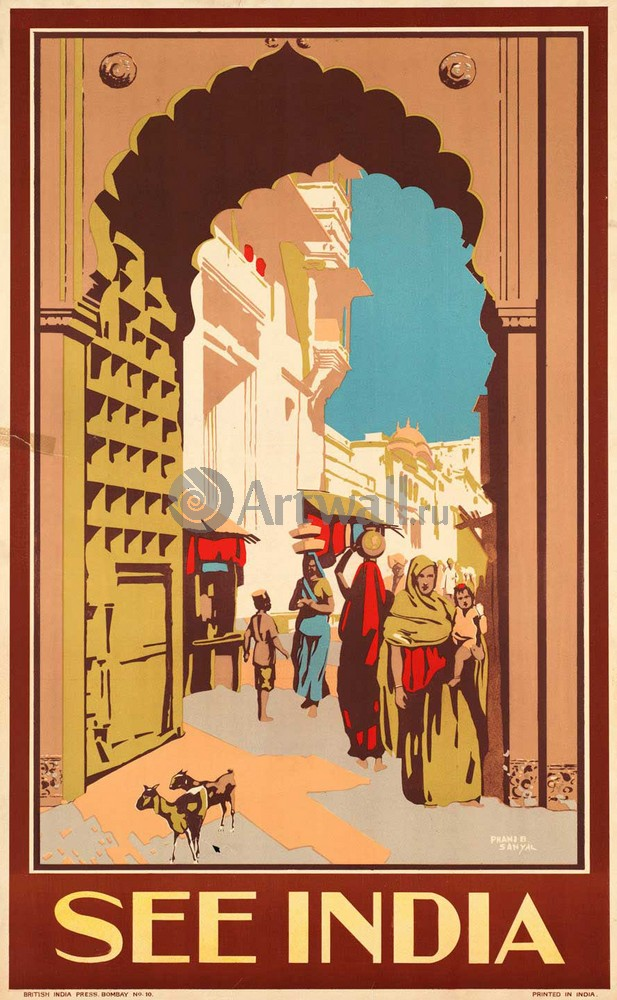 Плакат Туризм Посетить Индию, 20x32 см, на бумагеТуризм<br>Постер на холсте или бумаге. Любого нужного вам размера. В раме или без. Подвес в комплекте. Трехслойная надежная упаковка. Доставим в любую точку России. Вам осталось только повесить картину на стену!<br>