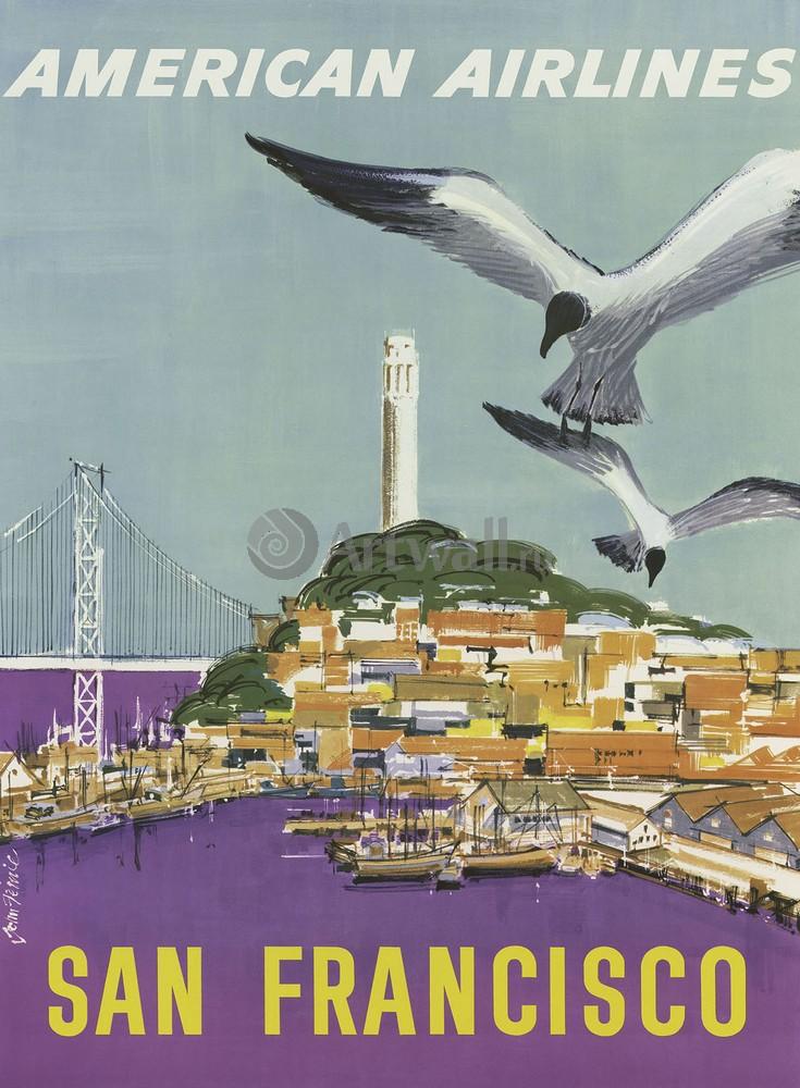 Плакат Плакат 20 века Сан - Франциско, American Airlines (2), 20x27 см, на бумагеТуризм<br>Постер на холсте или бумаге. Любого нужного вам размера. В раме или без. Подвес в комплекте. Трехслойная надежная упаковка. Доставим в любую точку России. Вам осталось только повесить картину на стену!<br>