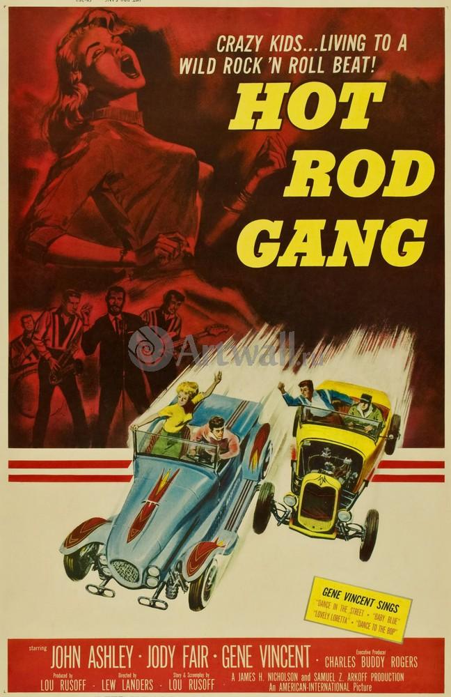 Плакат Плакат 20 века Hot Rod Gang, Crazy Kids Living to a Wild Rock n Roll Beat, 20x31 см, на бумагеКино<br>Постер на холсте или бумаге. Любого нужного вам размера. В раме или без. Подвес в комплекте. Трехслойная надежная упаковка. Доставим в любую точку России. Вам осталось только повесить картину на стену!<br>