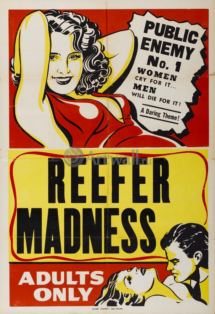 Плакат Плакат 20 века Reefer Madness, Public Enemy No. 1, 20x29 см, на бумагеКино<br>Постер на холсте или бумаге. Любого нужного вам размера. В раме или без. Подвес в комплекте. Трехслойная надежная упаковка. Доставим в любую точку России. Вам осталось только повесить картину на стену!<br>