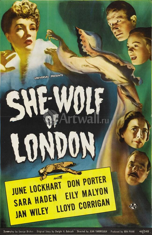 She Wolf of London, June Lockhart, Don Porter, 20x31 см, на бумагеКино<br>Постер на холсте или бумаге. Любого нужного вам размера. В раме или без. Подвес в комплекте. Трехслойная надежная упаковка. Доставим в любую точку России. Вам осталось только повесить картину на стену!<br>
