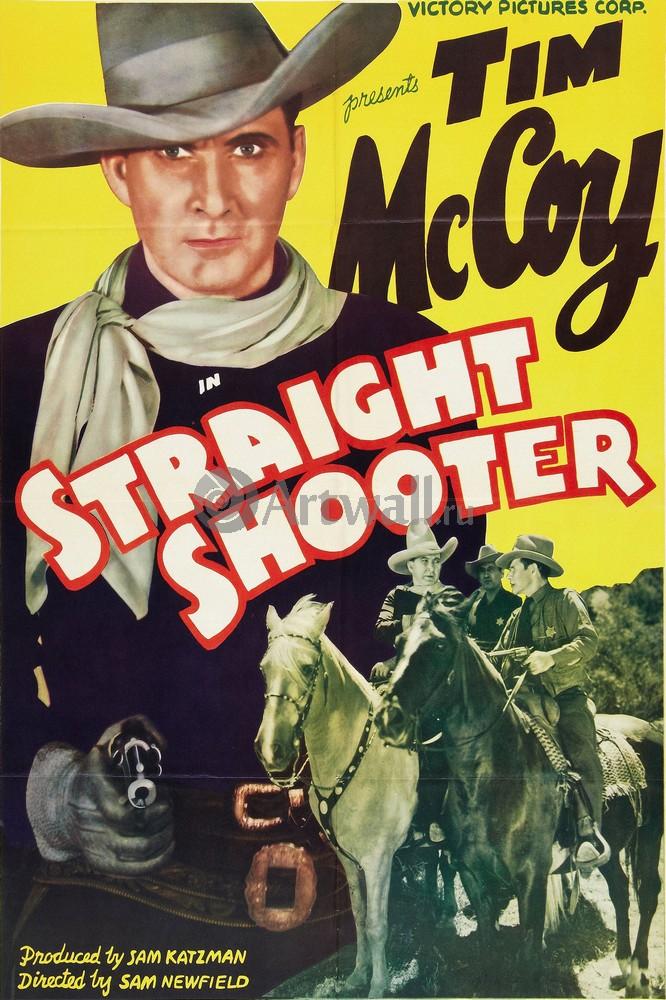 Straight Shooter, Tim McCoy, 20x30 см, на бумагеКино<br>Постер на холсте или бумаге. Любого нужного вам размера. В раме или без. Подвес в комплекте. Трехслойная надежная упаковка. Доставим в любую точку России. Вам осталось только повесить картину на стену!<br>