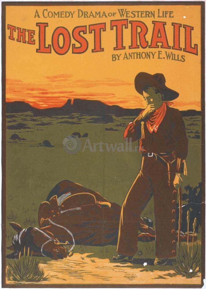Плакат Кино The Lost Trail, A Comedy Drama of Western Life, 20x28 см, на бумагеКино<br>Постер на холсте или бумаге. Любого нужного вам размера. В раме или без. Подвес в комплекте. Трехслойная надежная упаковка. Доставим в любую точку России. Вам осталось только повесить картину на стену!<br>