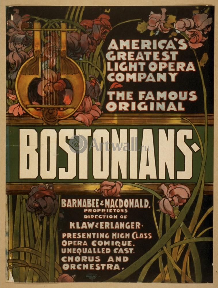 Величайший Свет оперная труппа Америки, знаменитый Оригинальные Bostonians, 20x26 см, на бумагеКино<br>Постер на холсте или бумаге. Любого нужного вам размера. В раме или без. Подвес в комплекте. Трехслойная надежная упаковка. Доставим в любую точку России. Вам осталось только повесить картину на стену!<br>