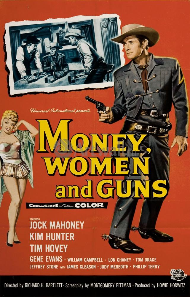 Плакат Плакат 20 века Деньги, женщины, и пушки, 20x31 см, на бумагеКино<br>Постер на холсте или бумаге. Любого нужного вам размера. В раме или без. Подвес в комплекте. Трехслойная надежная упаковка. Доставим в любую точку России. Вам осталось только повесить картину на стену!<br>