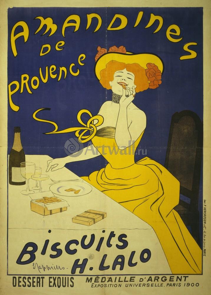 Amandines de Provence, печенье H. Lalo, 20x28 см, на бумагеФранция<br>Постер на холсте или бумаге. Любого нужного вам размера. В раме или без. Подвес в комплекте. Трехслойная надежная упаковка. Доставим в любую точку России. Вам осталось только повесить картину на стену!<br>