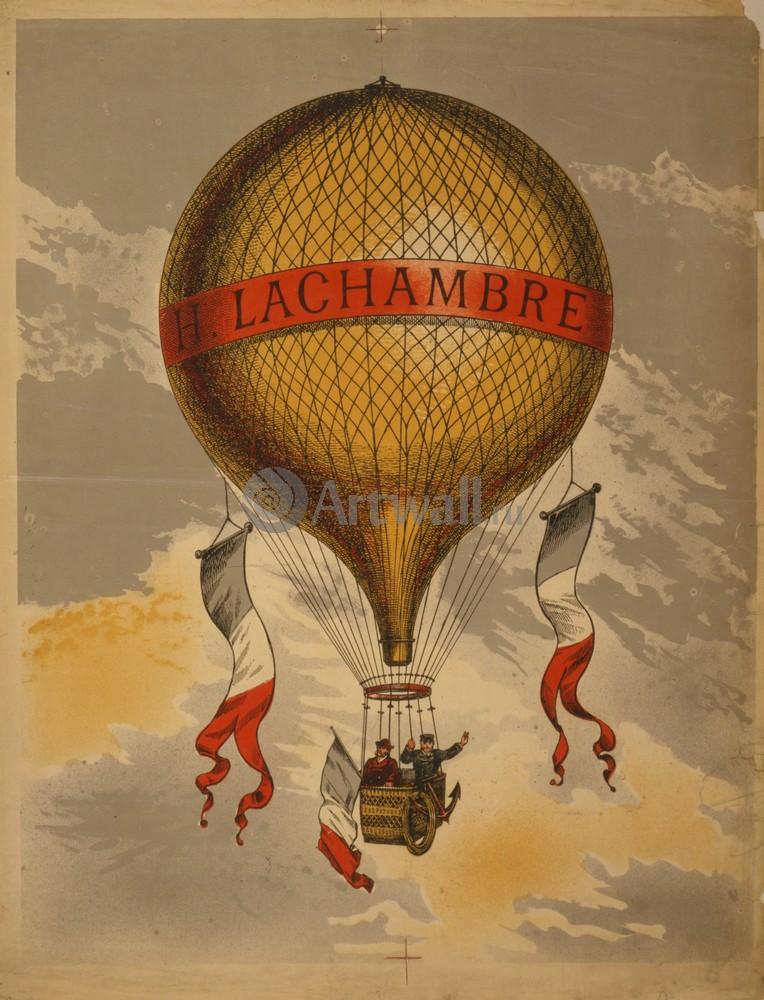 Плакат Плакат 20 века Х. Lachambre - Старинный Воздушный шар, 20x26 см, на бумагеФранция<br>Постер на холсте или бумаге. Любого нужного вам размера. В раме или без. Подвес в комплекте. Трехслойная надежная упаковка. Доставим в любую точку России. Вам осталось только повесить картину на стену!<br>