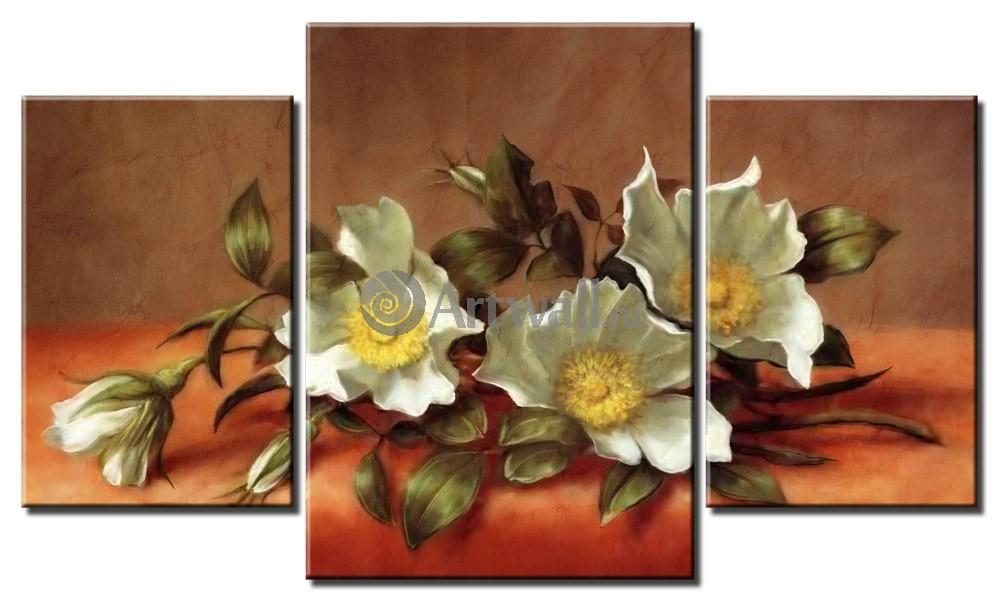 Модульная картина «Голландский натюрморт»Цветы<br>Модульная картина на натуральном холсте и деревянном подрамнике. Подвес в комплекте. Трехслойная надежная упаковка. Доставим в любую точку России. Вам осталось только повесить картину на стену!<br>
