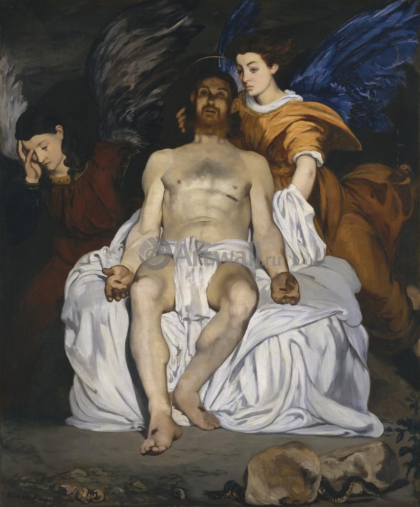 Мане Эдуард, картина Умерший Христос и ангелыМане Эдуард<br>Репродукция на холсте или бумаге. Любого нужного вам размера. В раме или без. Подвес в комплекте. Трехслойная надежная упаковка. Доставим в любую точку России. Вам осталось только повесить картину на стену!<br>