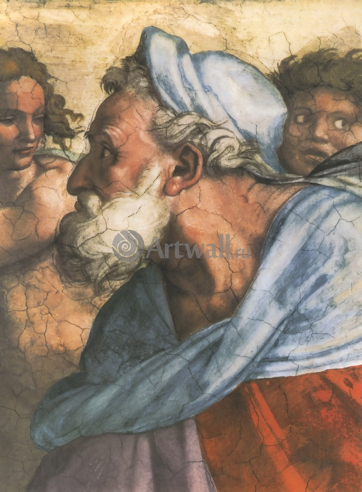 Микеланджело Буонарроти, картина Пророк ИезекильМикеланджело Буонарроти<br>Репродукция на холсте или бумаге. Любого нужного вам размера. В раме или без. Подвес в комплекте. Трехслойная надежная упаковка. Доставим в любую точку России. Вам осталось только повесить картину на стену!<br>
