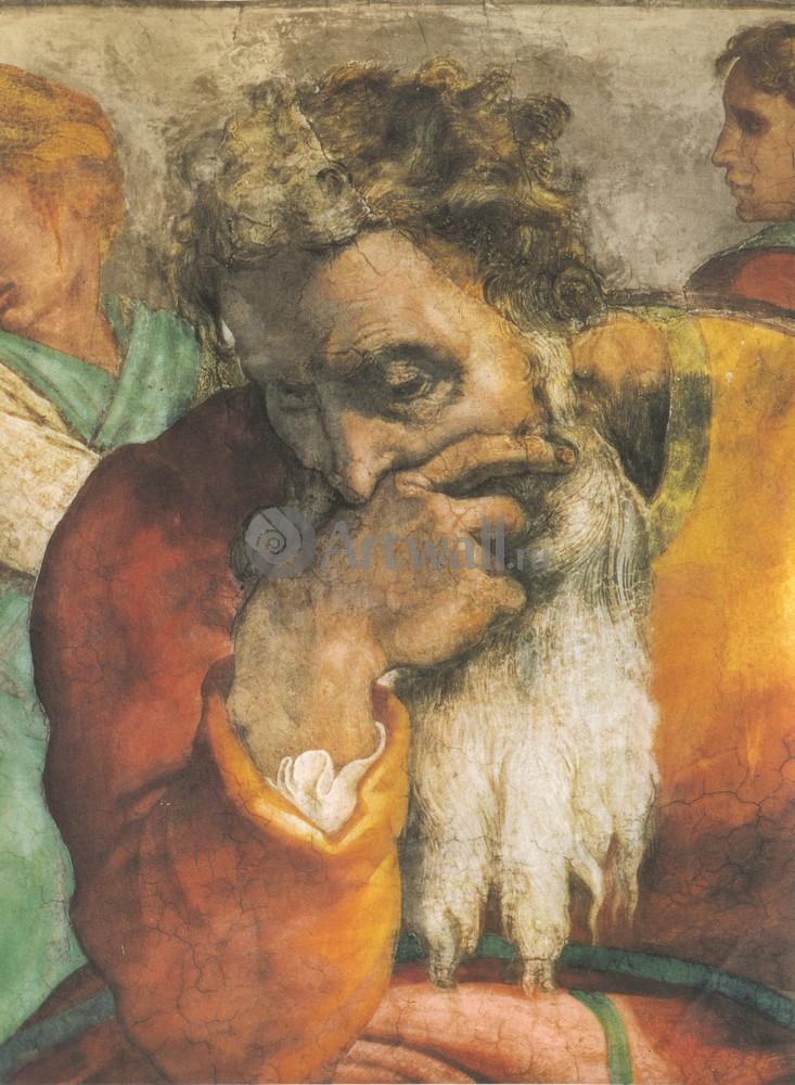 Художники, картина Пророк Иеремия, 20x27 см, на бумагеМикеланджело Буонарроти<br>Постер на холсте или бумаге. Любого нужного вам размера. В раме или без. Подвес в комплекте. Трехслойная надежная упаковка. Доставим в любую точку России. Вам осталось только повесить картину на стену!<br>