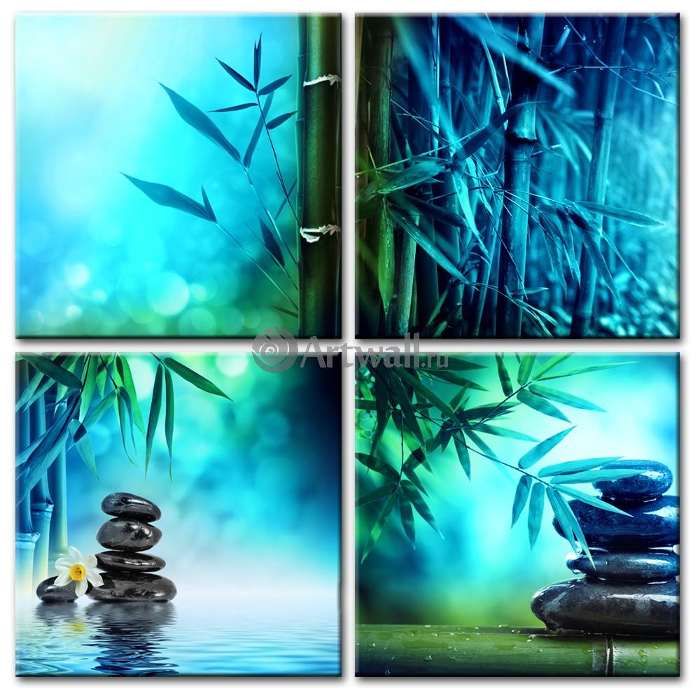 Модульная картина «Бамбук и камни 2»Природа<br>Модульная картина на натуральном холсте и деревянном подрамнике. Подвес в комплекте. Трехслойная надежная упаковка. Доставим в любую точку России. Вам осталось только повесить картину на стену!<br>